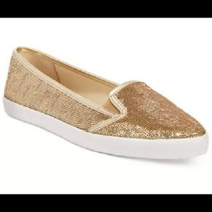 Michael Kors Pale Gold Olive Slip-On Shoe